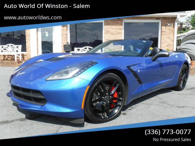 2014 Chevrolet Corvette for sale at Auto World Of Winston - Salem in Winston Salem NC