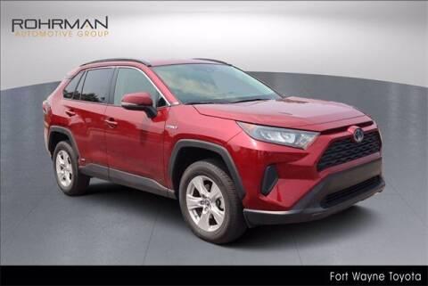 2019 Toyota RAV4 Hybrid for sale at BOB ROHRMAN FORT WAYNE TOYOTA in Fort Wayne IN