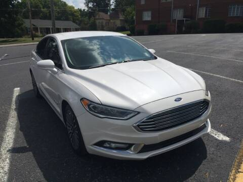 2017 Ford Fusion Hybrid for sale at DEALS ON WHEELS in Moulton AL