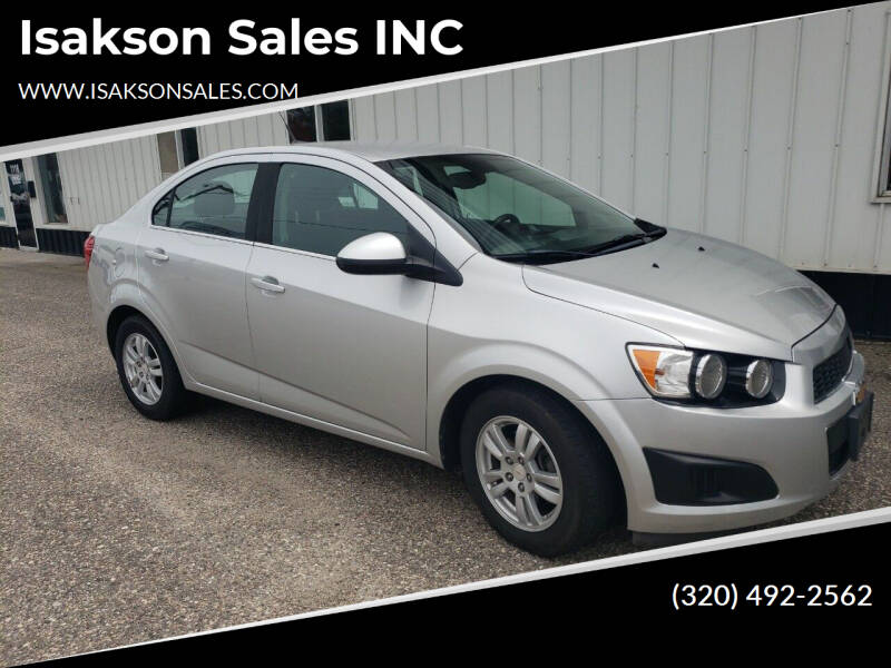 2012 Chevrolet Sonic for sale at Isakson Sales INC in Waite Park MN