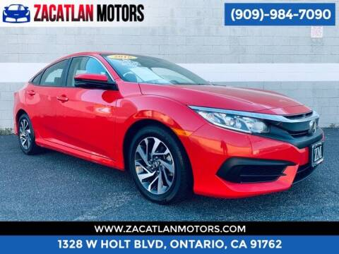 2016 Honda Civic for sale at Ontario Auto Square in Ontario CA
