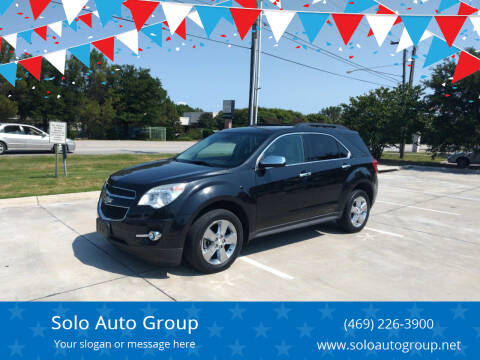 2014 Chevrolet Equinox for sale at Solo Auto Group in Mckinney TX