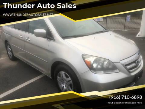 2007 Honda Odyssey for sale at Thunder Auto Sales in Sacramento CA