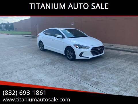 2018 Hyundai Elantra for sale at TITANIUM AUTO SALE in Houston TX