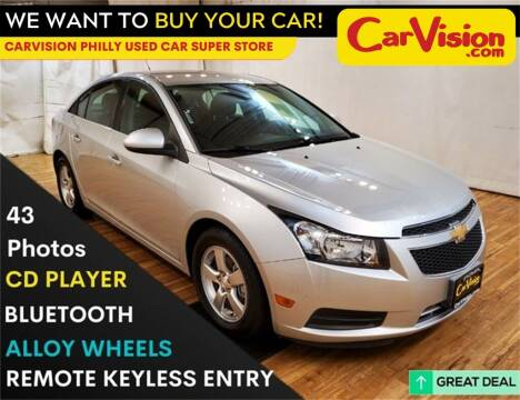 2014 Chevrolet Cruze for sale at Car Vision Mitsubishi Norristown - Car Vision Philly Used Car SuperStore in Philadelphia PA