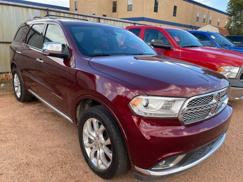 2016 Dodge Durango for sale at Street Smart Auto Brokers in Colorado Springs CO