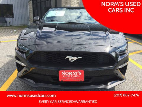 2020 Ford Mustang for sale at NORM'S USED CARS INC in Wiscasset ME