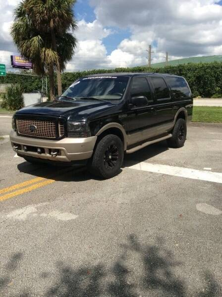 2003 Ford Excursion for sale at Tropical Motors Cargo Vans and Car Sales Inc. in Pompano Beach FL