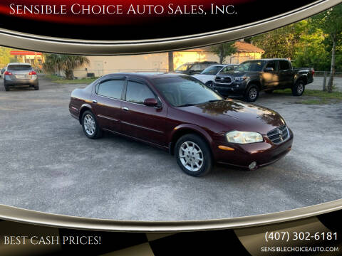 2000 Nissan Maxima for sale at Sensible Choice Auto Sales, Inc. in Longwood FL