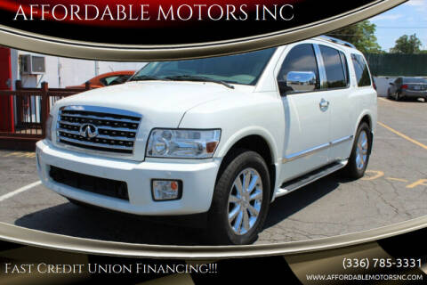 2009 Infiniti QX56 for sale at AFFORDABLE MOTORS INC in Winston Salem NC
