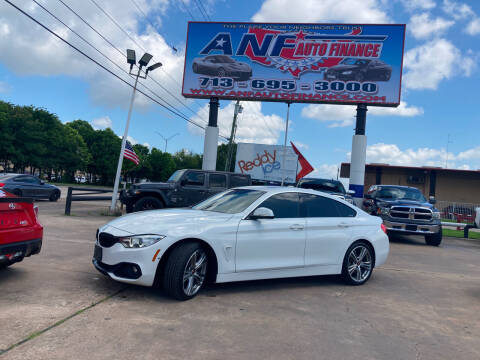 2016 BMW 4 Series for sale at ANF AUTO FINANCE in Houston TX