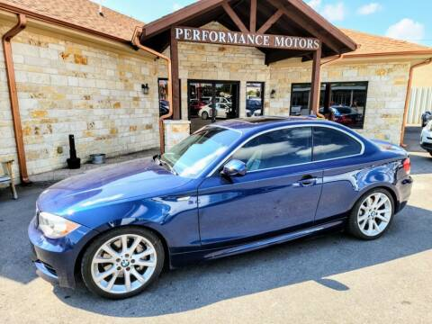 2012 BMW 1 Series for sale at Performance Motors Killeen Second Chance in Killeen TX