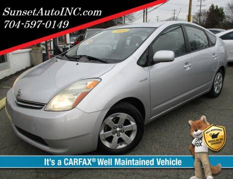 2009 Toyota Prius for sale at Sunset Auto in Charlotte NC