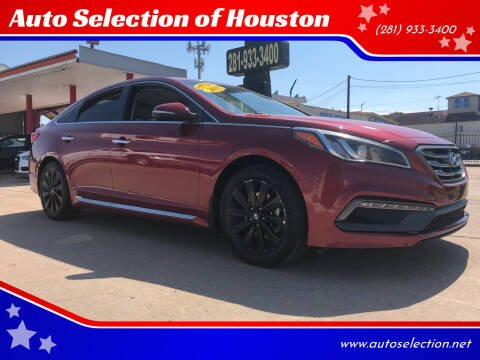 2015 Hyundai Sonata for sale at Auto Selection of Houston in Houston TX