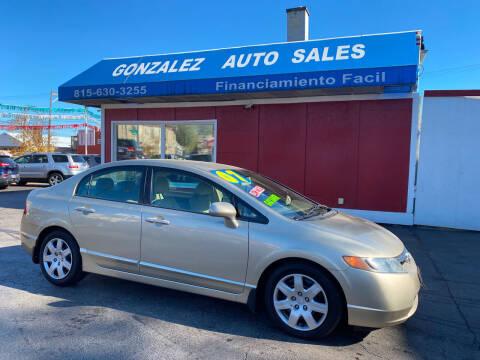 2007 Honda Civic for sale at Gonzalez Auto Sales in Joliet IL