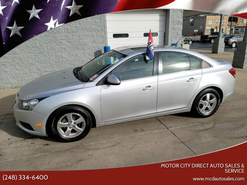 2012 Chevrolet Cruze for sale at Motor City Direct Auto Sales & Service in Pontiac MI
