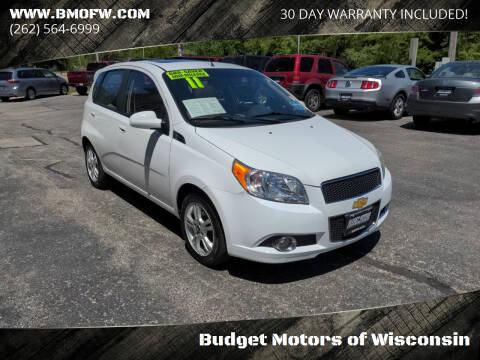 2011 Chevrolet Aveo for sale at Budget Motors of Wisconsin in Racine WI