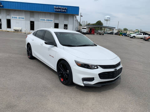2018 Chevrolet Malibu for sale at BULL MOTOR COMPANY in Wynne AR