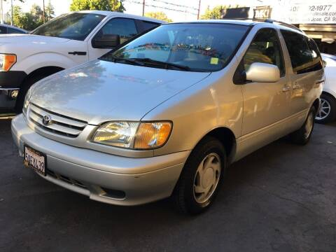 2003 Toyota Sienna for sale at MK Auto Wholesale in San Jose CA