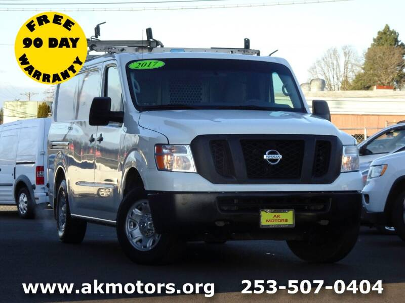 2017 Nissan NV Cargo for sale at AK Motors in Tacoma WA