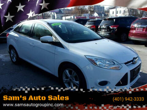 2014 Ford Focus for sale at Sam's Auto Sales in Cranston RI