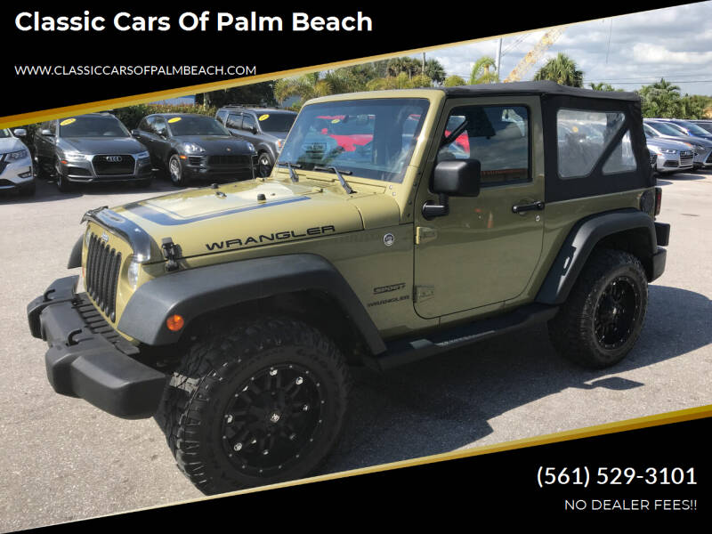 2013 Jeep Wrangler for sale at Classic Cars of Palm Beach in Jupiter FL