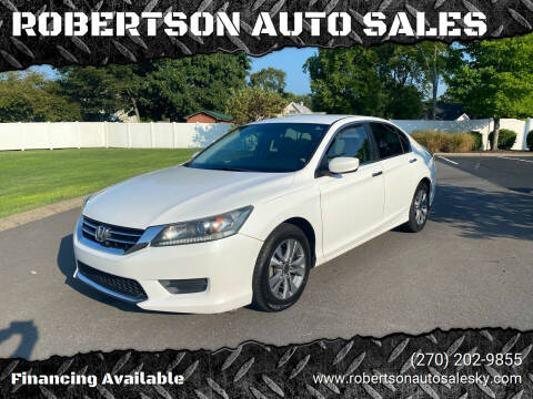2014 Honda Accord for sale at ROBERTSON AUTO SALES in Bowling Green KY