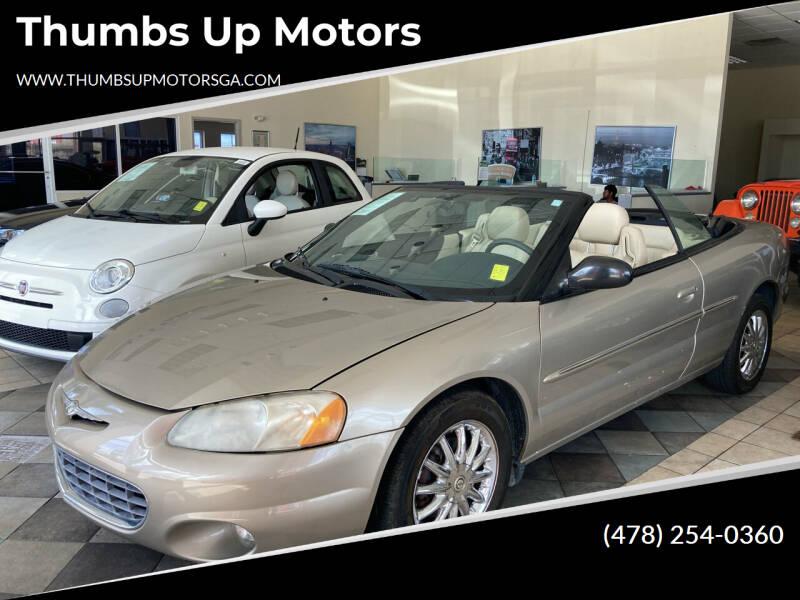 2002 Chrysler Sebring for sale at Thumbs Up Motors in Warner Robins GA