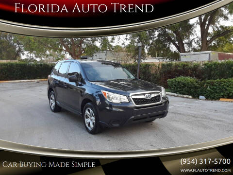2014 Subaru Forester for sale at Florida Auto Trend in Plantation FL