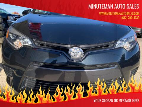 2016 Toyota Corolla for sale at Minuteman Auto Sales in Saint Paul MN