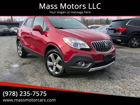 2013 Buick Encore for sale at Mass Motors LLC in Worcester MA