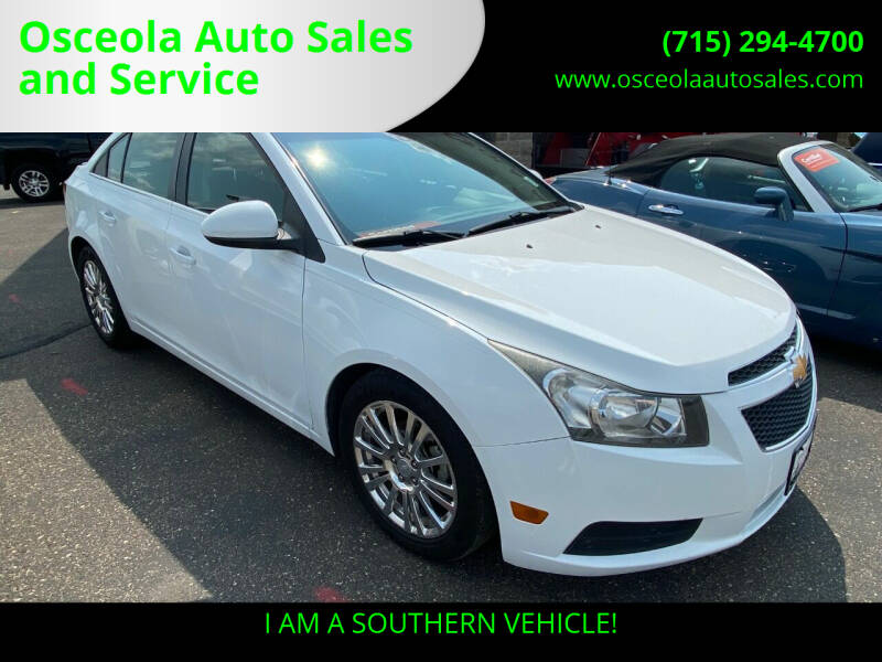 2013 Chevrolet Cruze for sale at Osceola Auto Sales and Service in Osceola WI