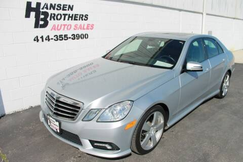 2011 Mercedes-Benz E-Class for sale at HANSEN BROTHERS AUTO SALES in Milwaukee WI