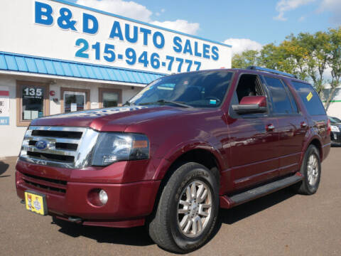 2012 Ford Expedition for sale at B & D Auto Sales Inc. in Fairless Hills PA