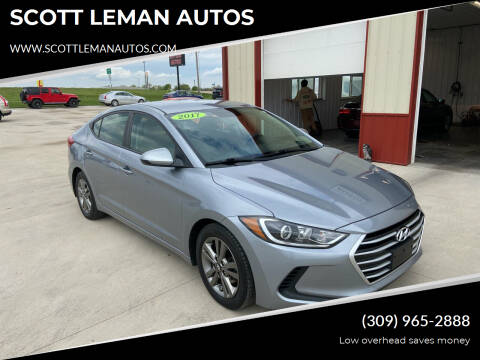 2017 Hyundai Elantra for sale at SCOTT LEMAN AUTOS in Goodfield IL