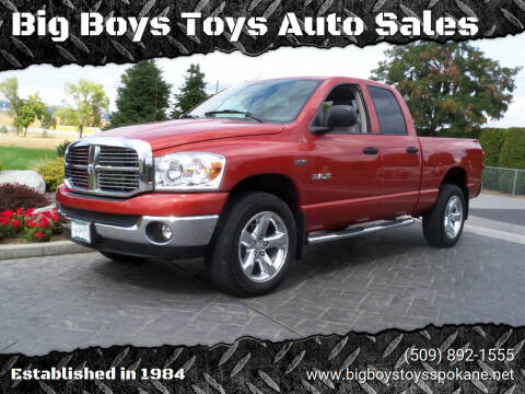 2008 Dodge Ram Pickup 1500 for sale at Big Boys Toys Auto Sales in Spokane Valley WA