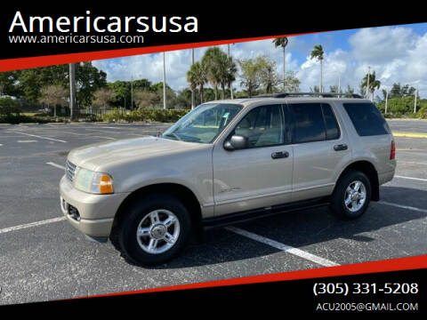 2004 Ford Explorer for sale at Americarsusa in Hollywood FL