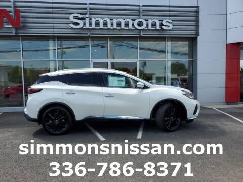 2021 Nissan Murano for sale at SIMMONS NISSAN INC in Mount Airy NC