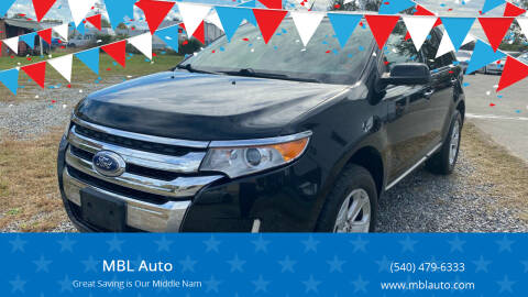 2013 Ford Edge for sale at MBL Auto in Fredericksburg VA