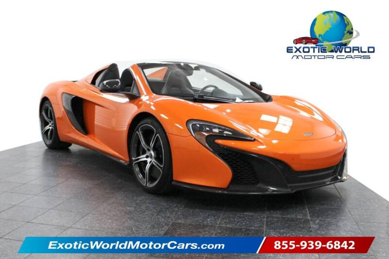 2015 McLaren 650S Spider for sale at Exotic World Motor Cars in Addison TX