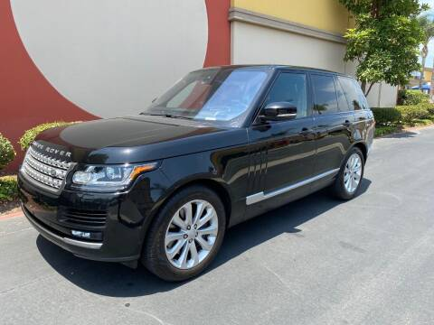 2016 Land Rover Range Rover for sale at Gallery Junction in Orange CA