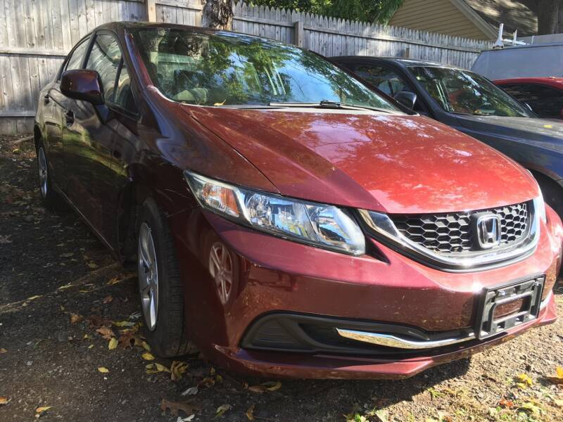 2013 Honda Civic for sale at MELILLO MOTORS INC in North Haven CT