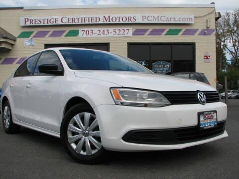 2013 Volkswagen Jetta for sale at Prestige Certified Motors in Falls Church VA
