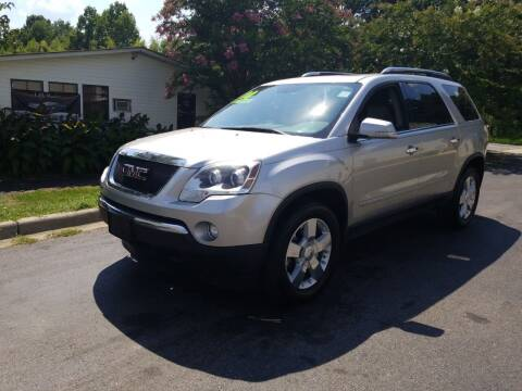 2008 GMC Acadia for sale at TR MOTORS in Gastonia NC