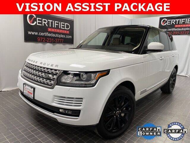 2017 Land Rover Range Rover for sale at CERTIFIED AUTOPLEX INC in Dallas TX