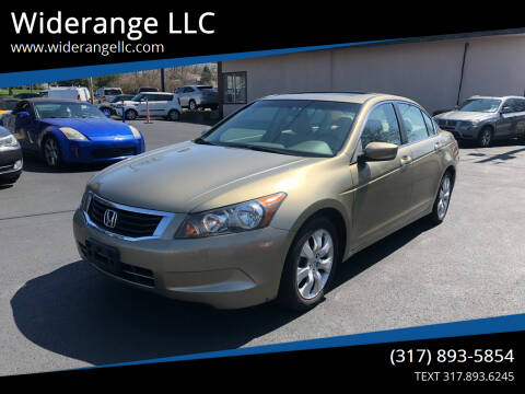 2008 Honda Accord for sale at Widerange LLC in Greenwood IN