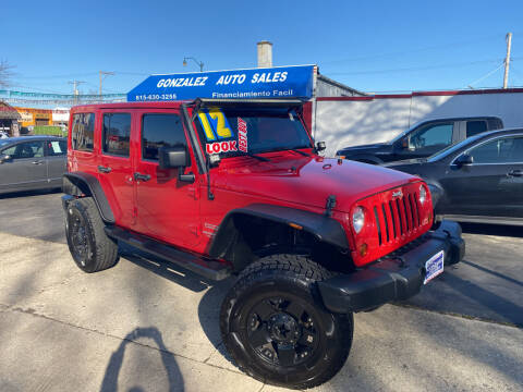 2012 Jeep Wrangler Unlimited for sale at Gonzalez Auto Sales in Joliet IL