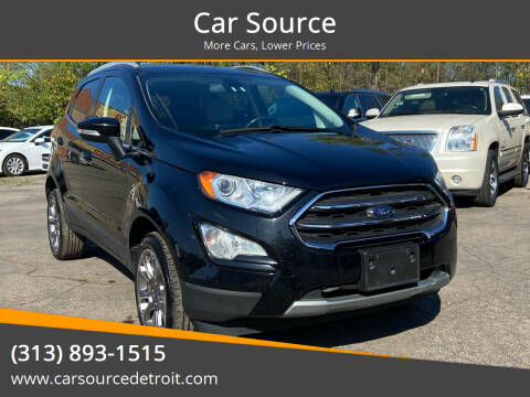 2019 Ford EcoSport for sale at Car Source in Detroit MI