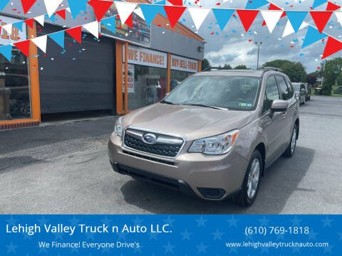 2015 Subaru Forester for sale at Lehigh Valley Truck n Auto LLC. in Schnecksville PA