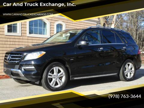 2012 Mercedes-Benz M-Class for sale at Car and Truck Exchange, Inc. in Rowley MA